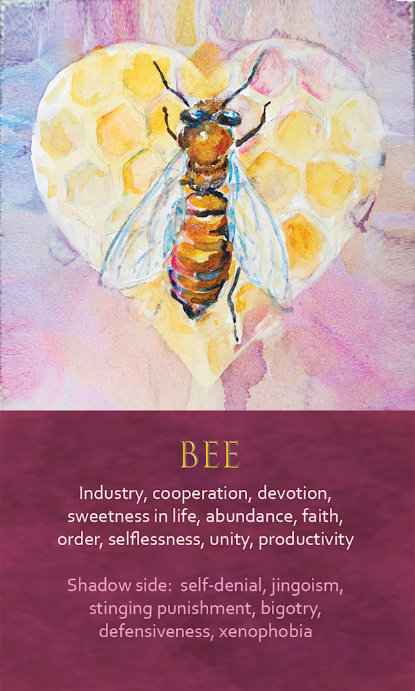 3 Spirit Animal Oracle Card Bee