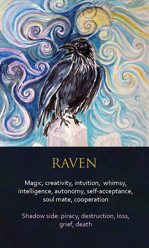 37 spirit animal oracle cards Raven