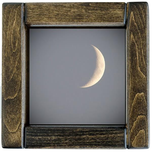 Crescent Moon Framed