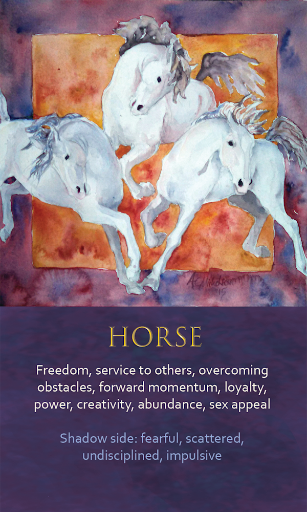 1 Spirit Animal Oracle Card Horse