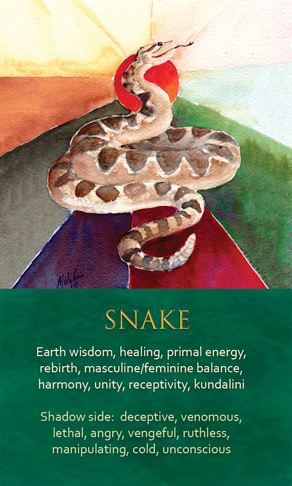 6 Spirit Animal oracle card Snake