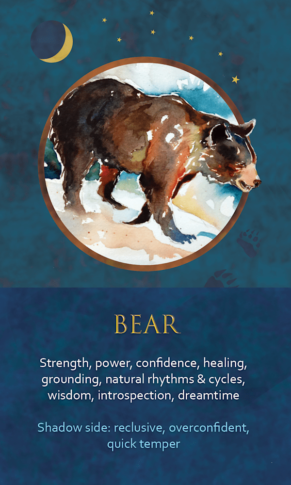 8 Spirit Animal Oracle Card Bear