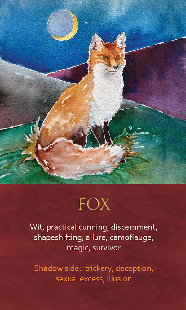 4 Spirit Animal Oracle Card Fox