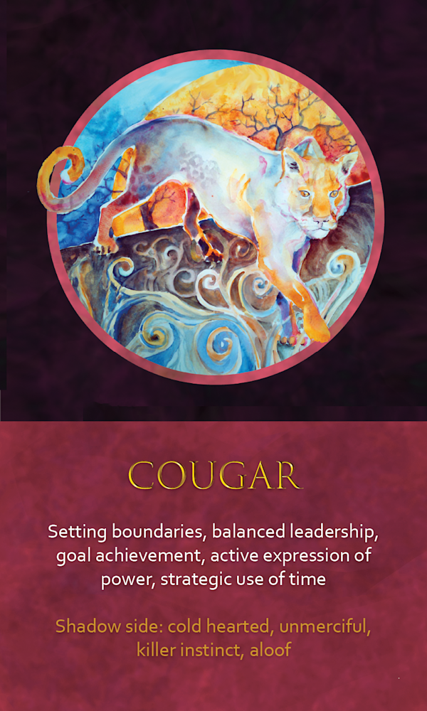 15 spirit animal oracle card cougar
