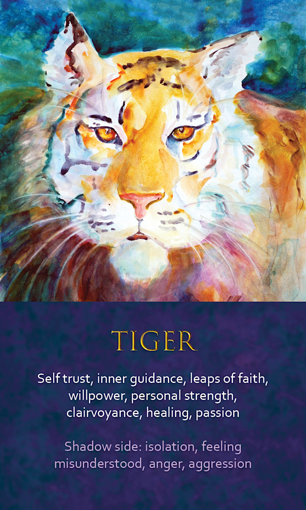 17 spirit animal oracle card tiger