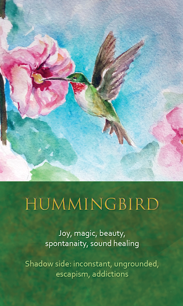 27 Spirit Animal oracle card Hummingbird