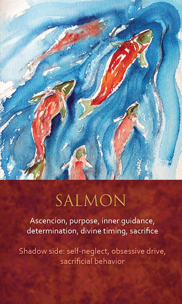 42 spirit animal oracle card Salmon
