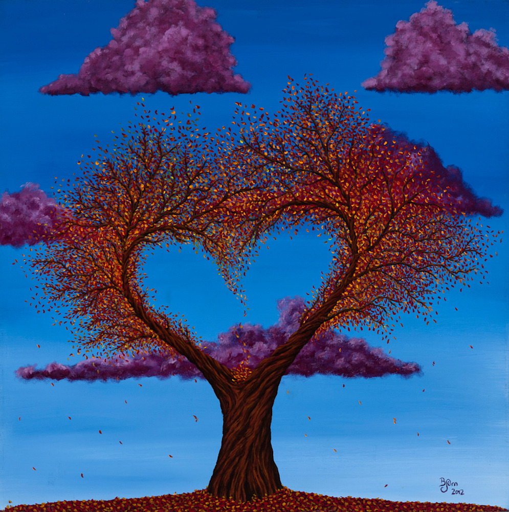 Autumn Heart Tree 1000