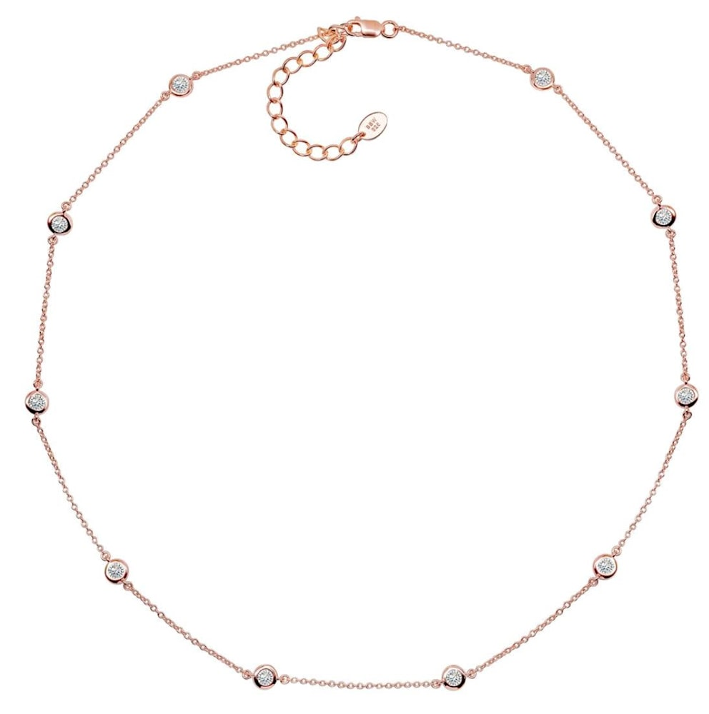 18 kgp Rose Gold Regal Short Floating Necklace 2