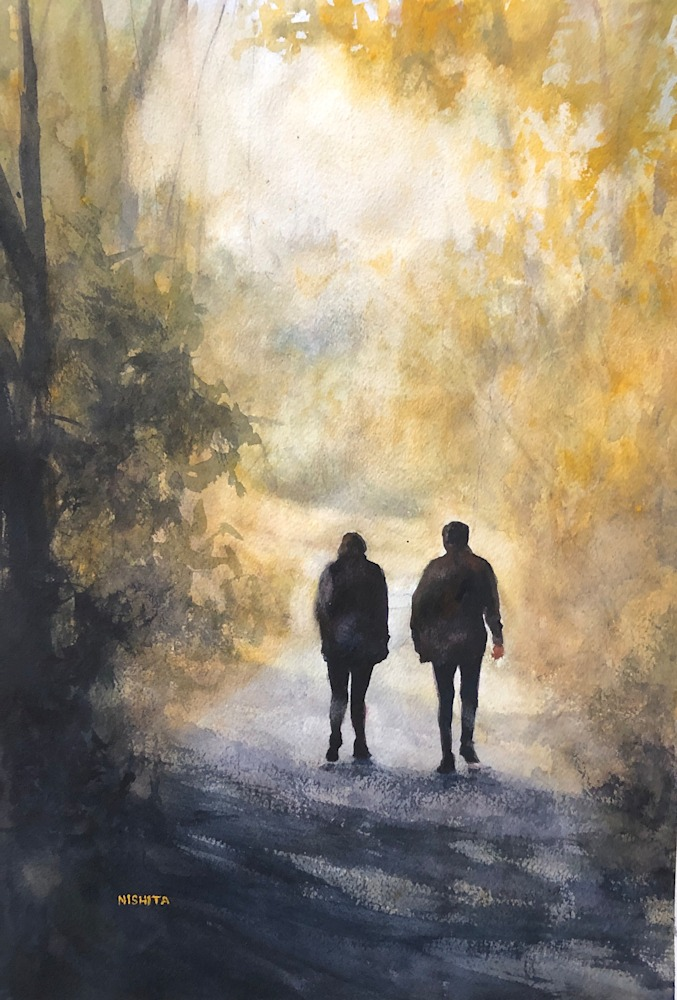Towards Sunshine Watercolor 19X13 2019