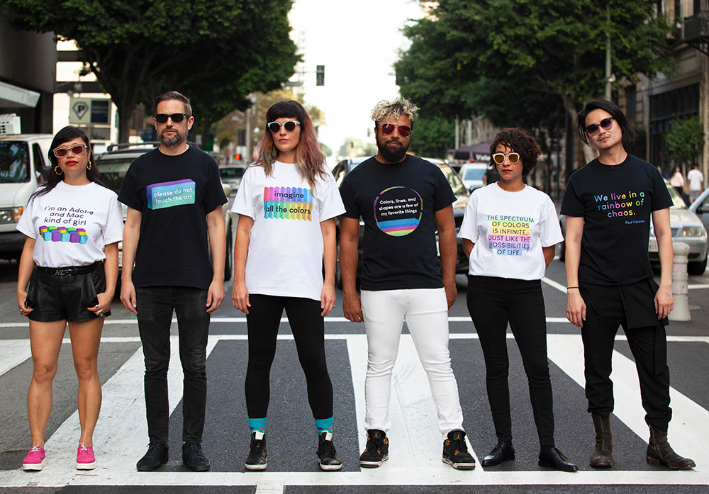 'The Artist's Spectrum' t-shirt collection