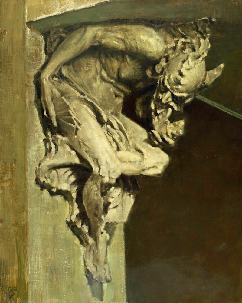 The Companion  Salmagundi Club George Bodine 30x24 Oil on Canvas