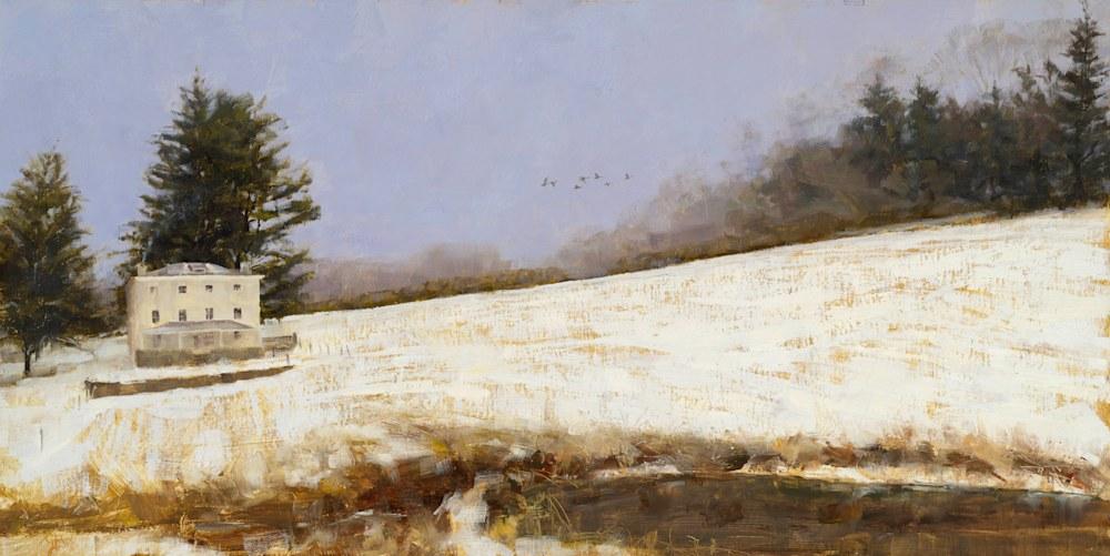 Winter's Flight George Bodine 18x36 Oil on Canvas