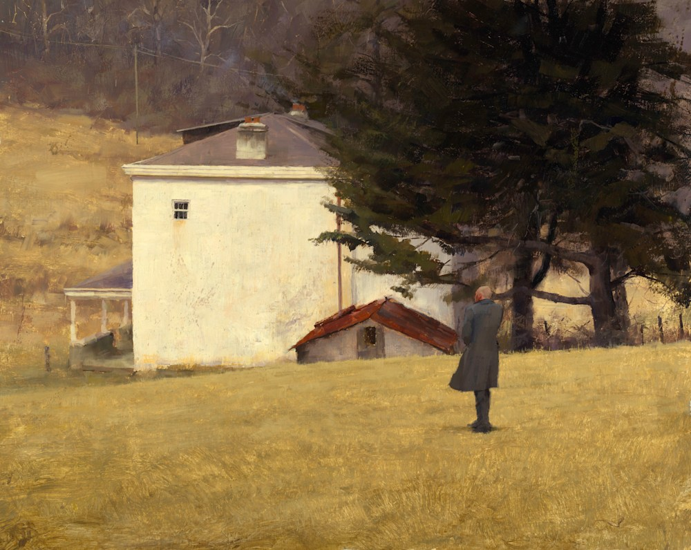 Veteran at Home George Bodine 24x30 Oil on Canvas