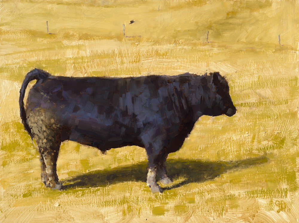 The Bull George Bodine 18x24 Oil on Canvas