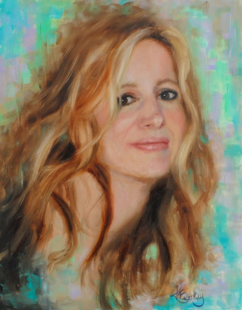 Self Portrait Oil on Board 14x11 $595  2017 Kelly Berkey