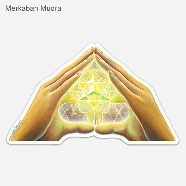 Merkabah Mudra sticker web