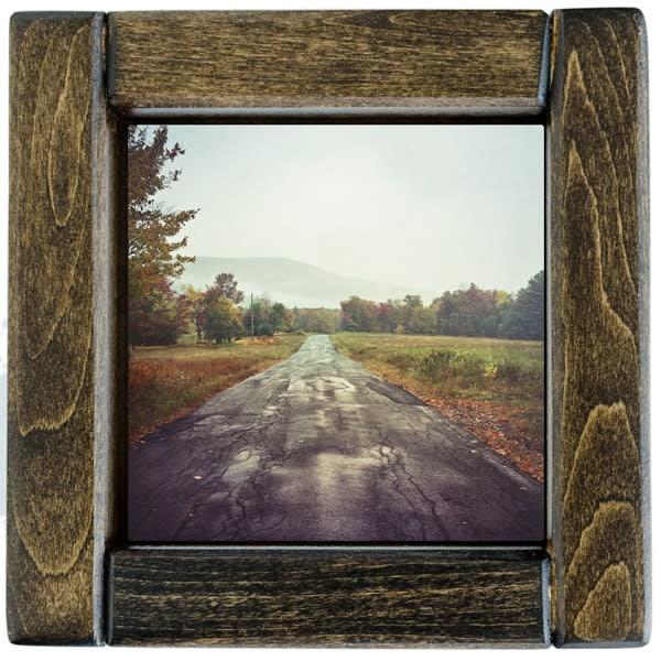 autumn road framed