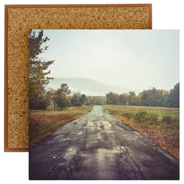 autumn road photo tile