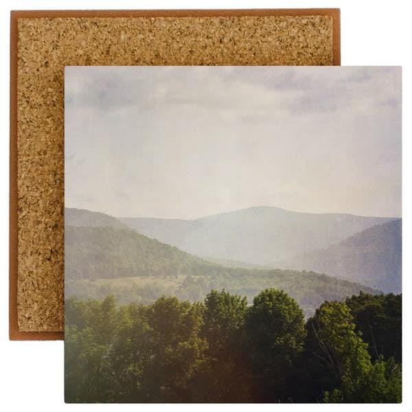 catskill mountain view photo tile