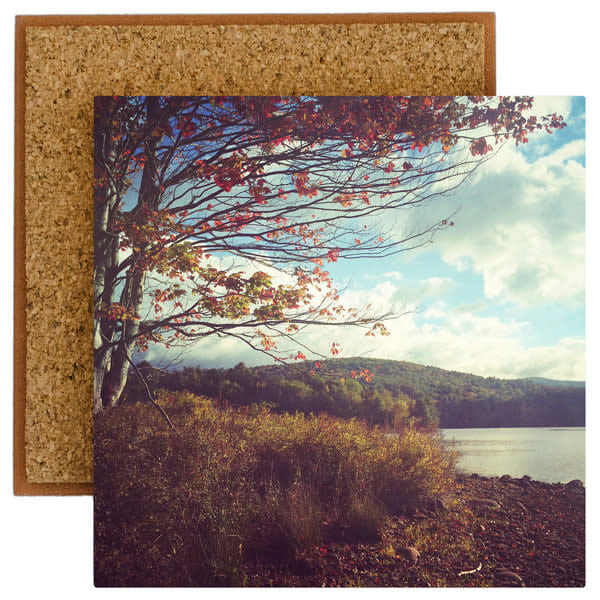 fall on rondout photo tile