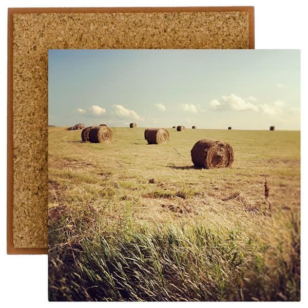 hay bales 2 photo tile