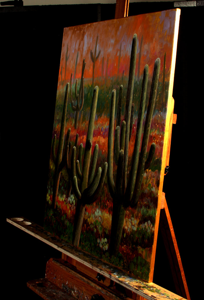 After the Monsoon I on the Easel