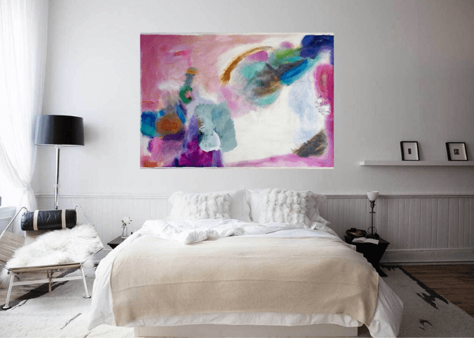 River of Color over bed