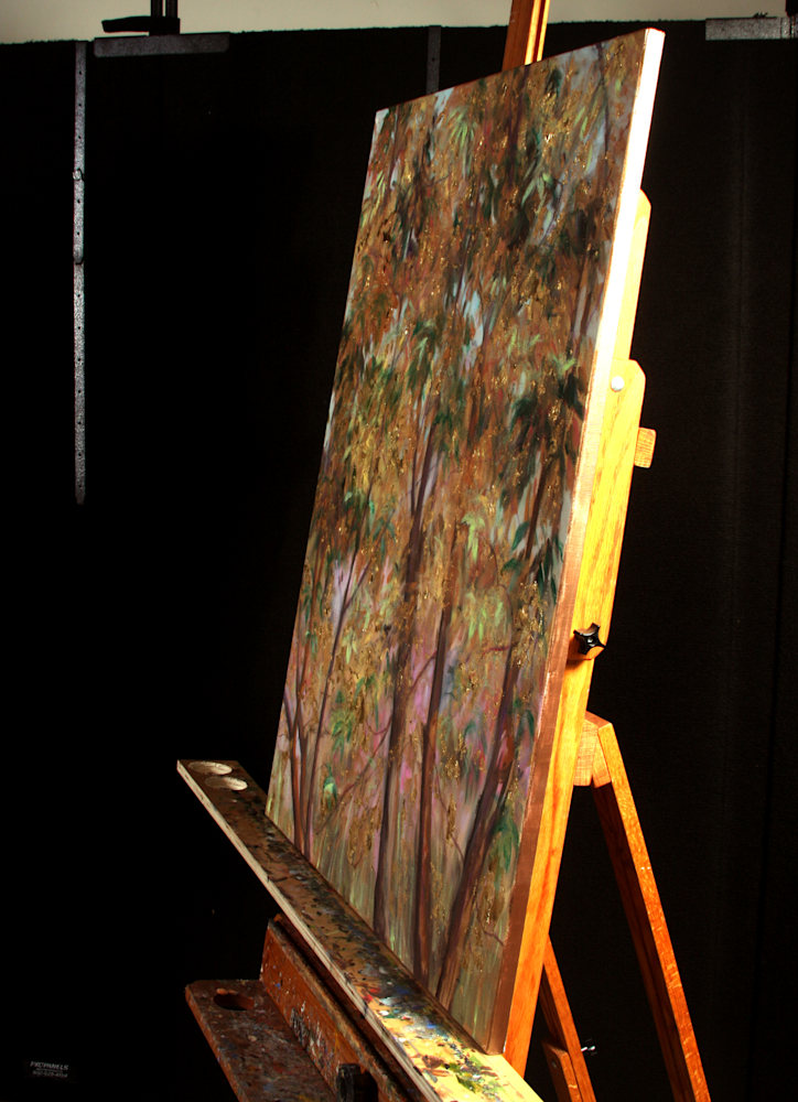 Golden Tree of Life I on the Easel