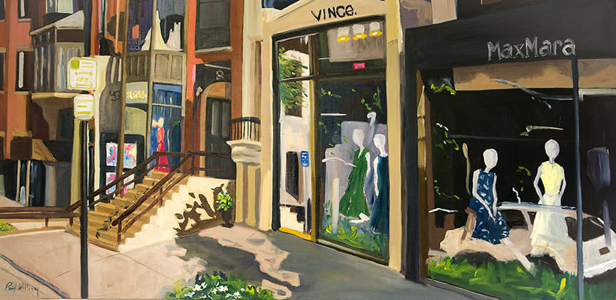 Newbury St Early Morning by Paul William artist