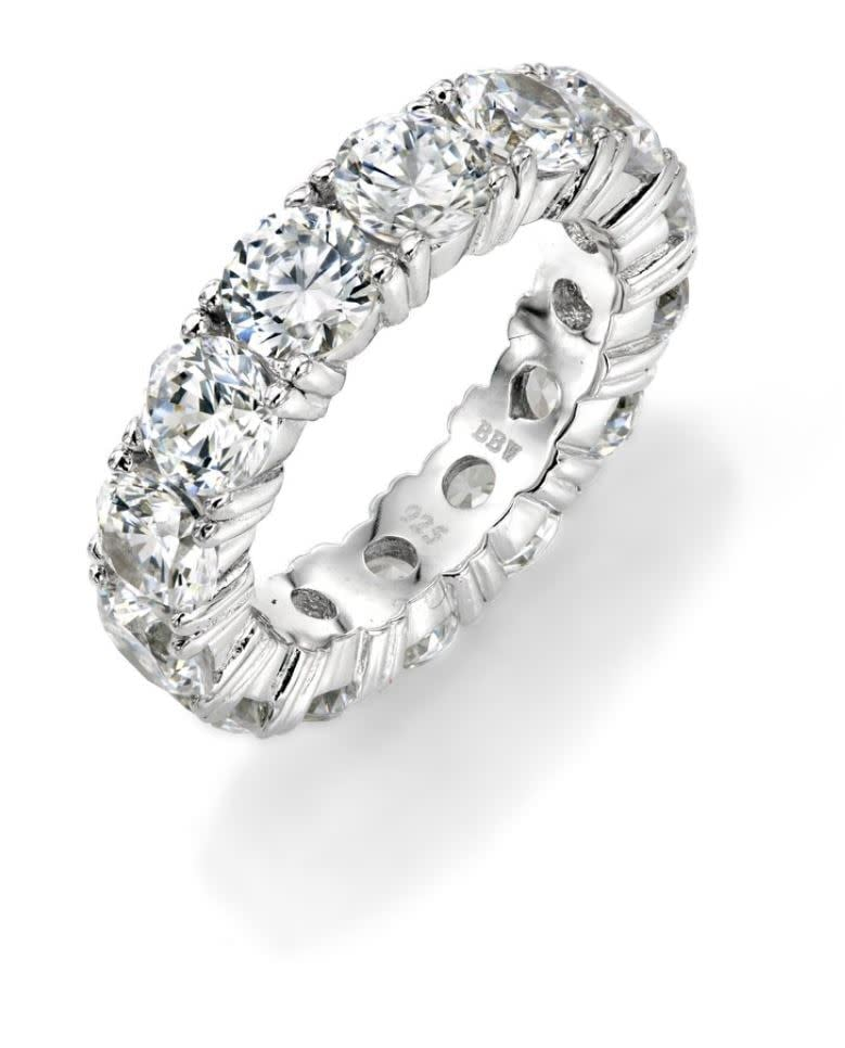 Sterling Silver 5mm Round Eternity Band 2