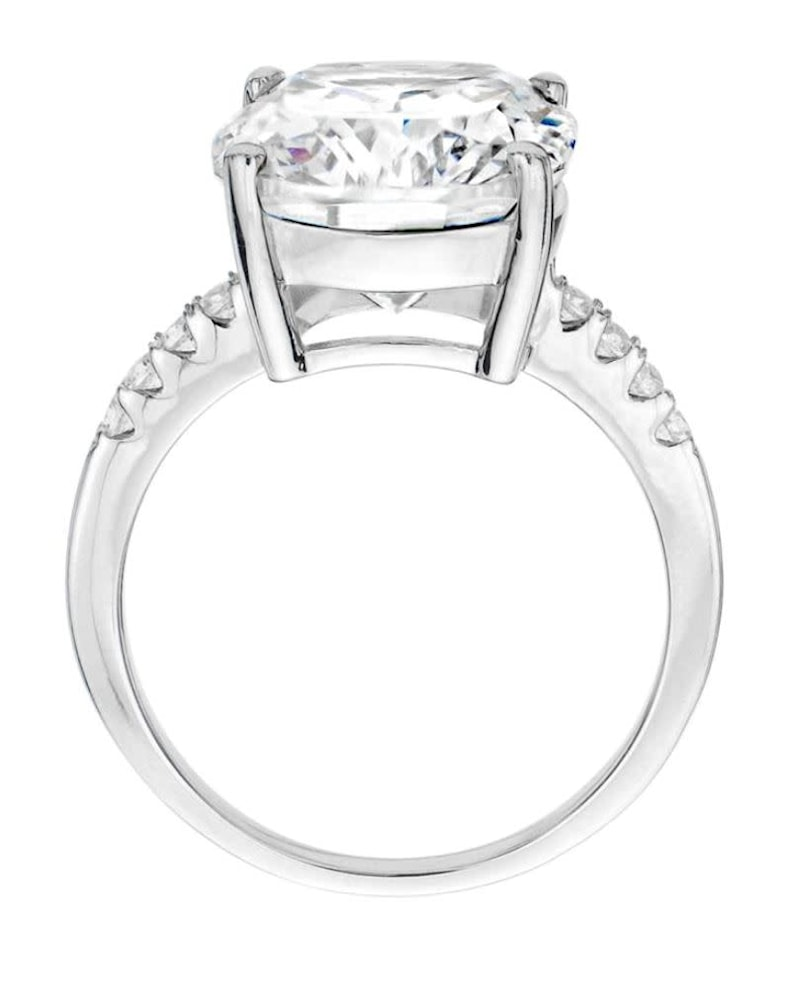Sterling Silver 4 Carat Floating Ring 2