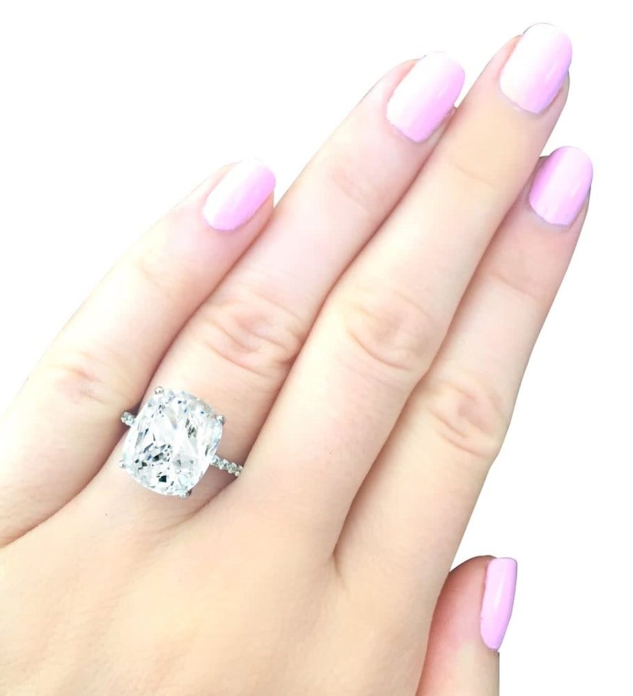 Sterling Silver 4 Carat Floating Ring 4