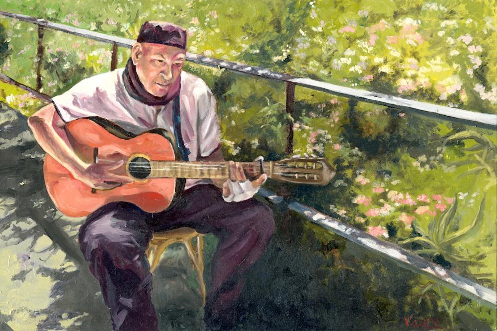 OPV Art Barcelona Park Guell Guitarist LOW RES JPG File