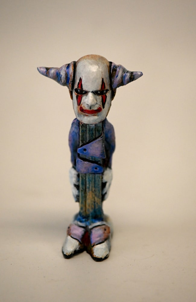 altered Pez dispenser clown