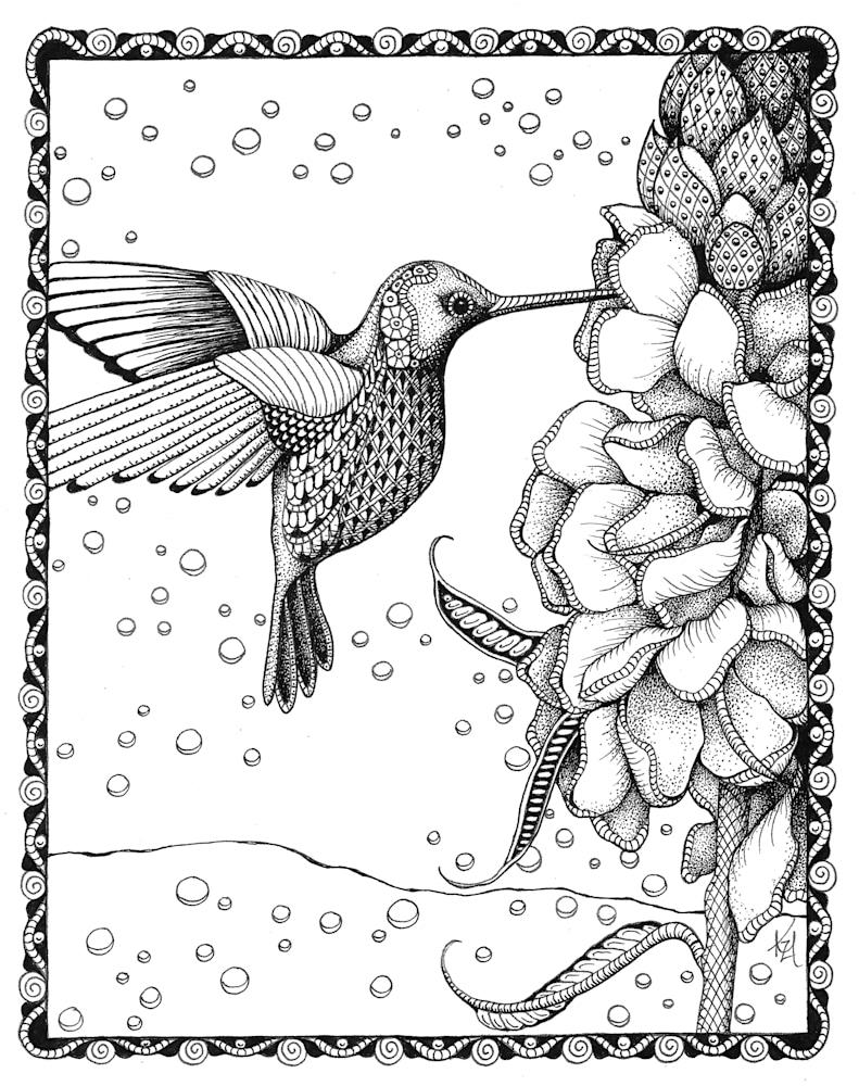 Hummingbird & gladiolas