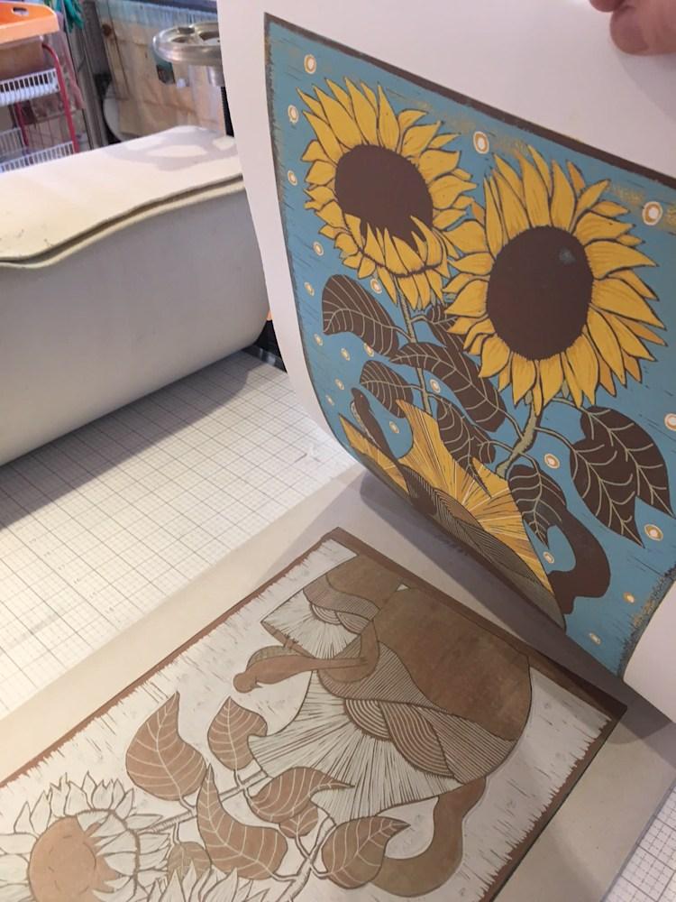 Sunflowers progress