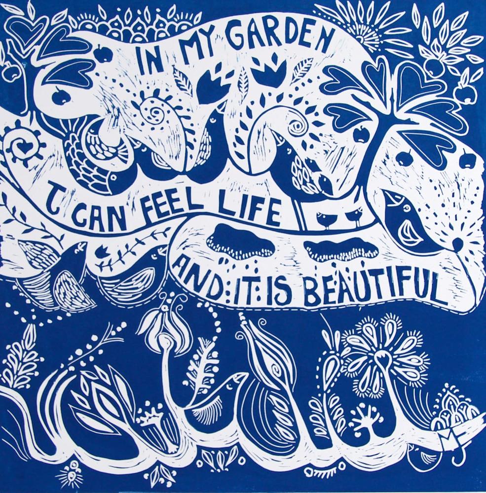 In my garden blue image