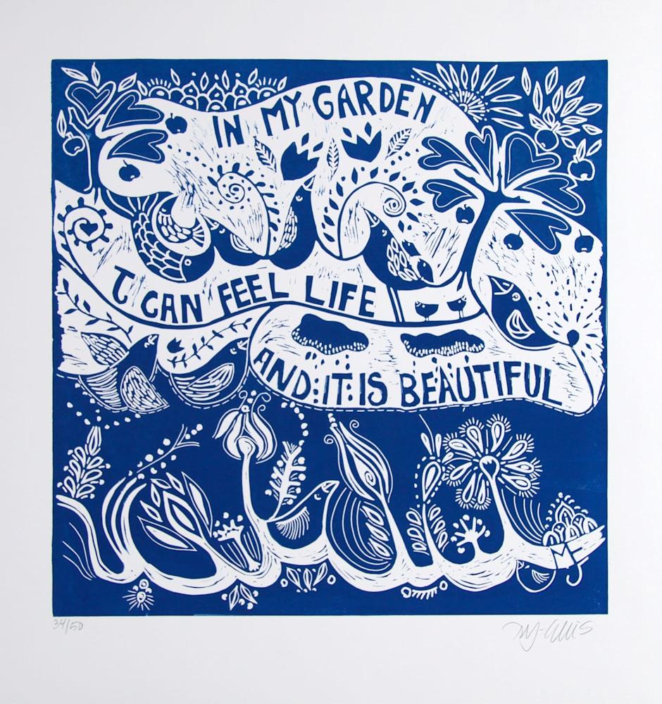 In my garden blue