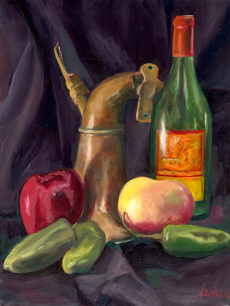 OPV Art Still Life Produce Bottle and Horn Low RES JPG File