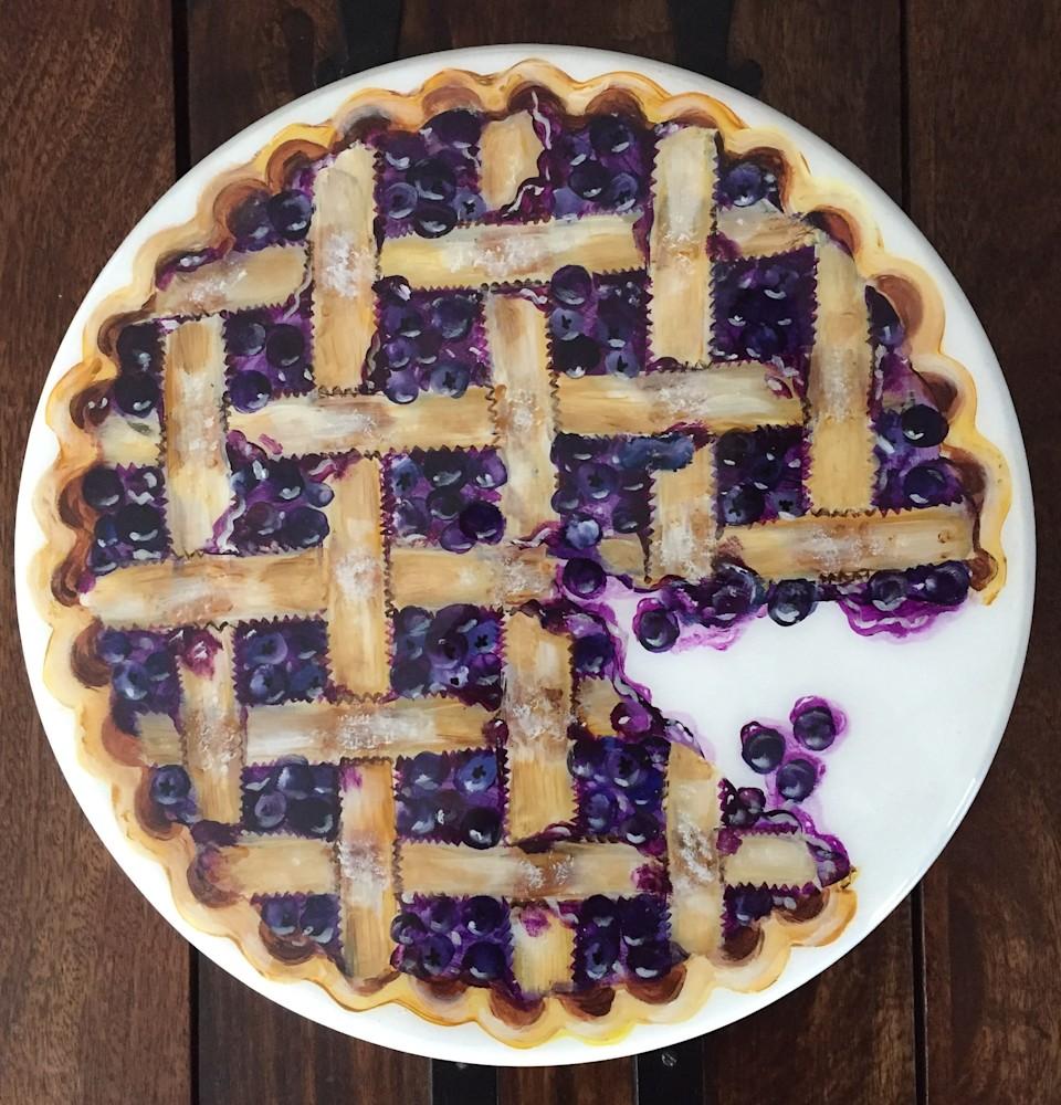 Lazy Susan Blueberry Pie 14