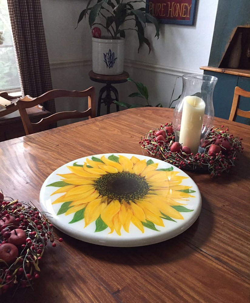 lazy susan sunflower 18
