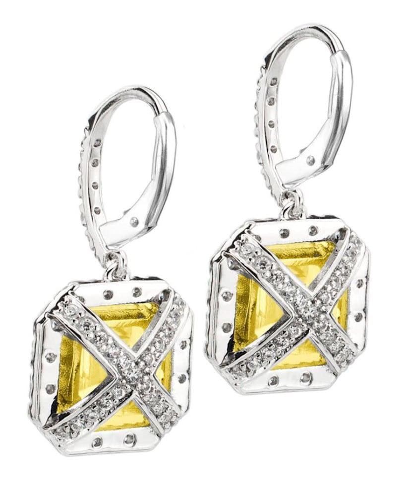 fancy light yellow canaring drop earrings 2