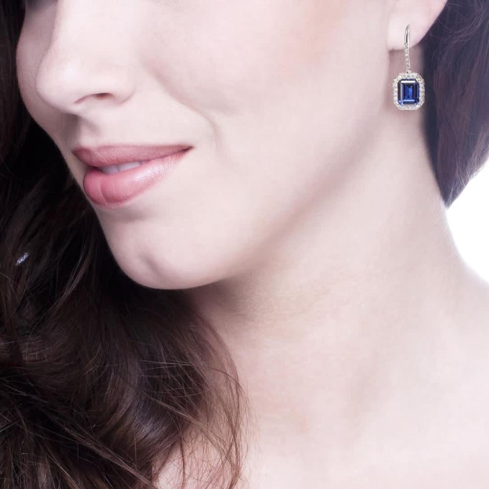sapphire hued emerald cut drops 3