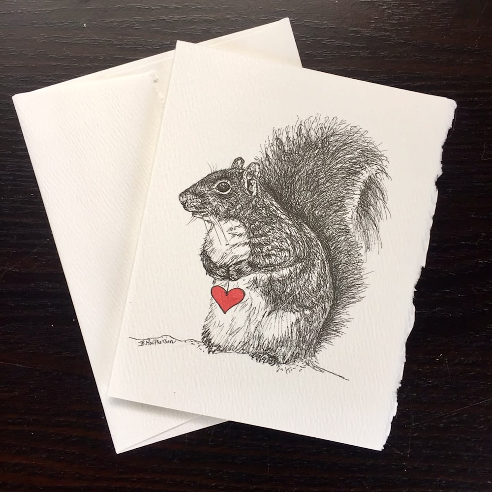 Squirrel Notecard and Envelope