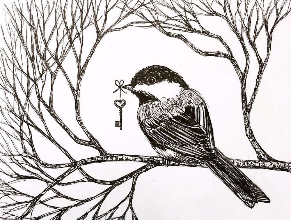 Chickadee and Key Small