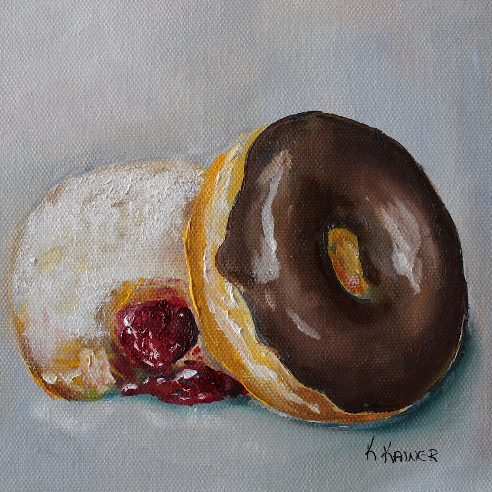 Donuts Chocolate and Jelly 6x6 300