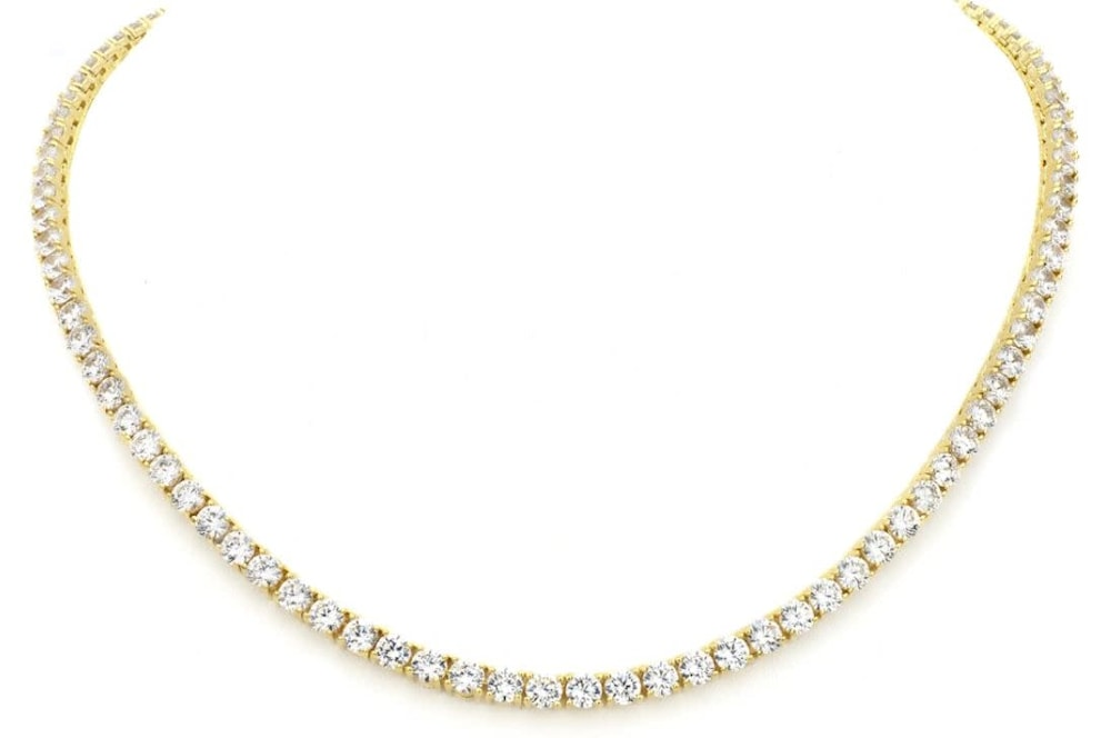 e2ca2424480a2 18 KGP Classic Tennis Necklace Bling by Wilkening