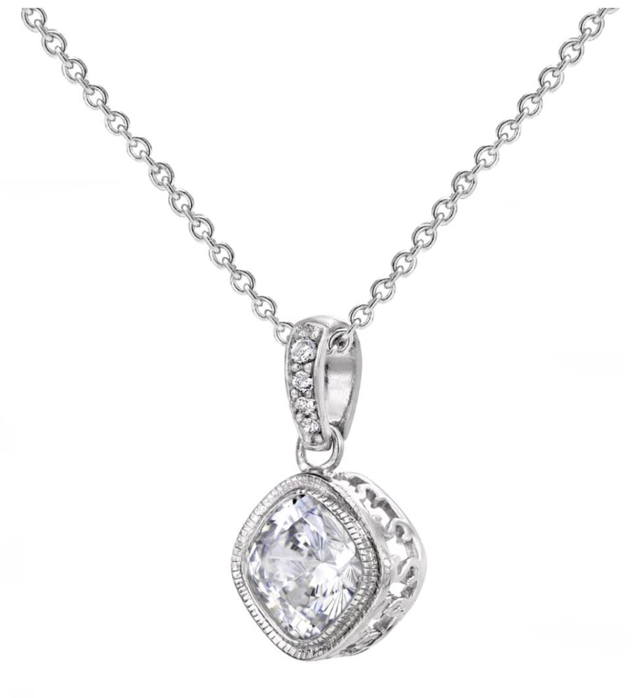 Sterling Silver 2 Carat NoHo Necklace b
