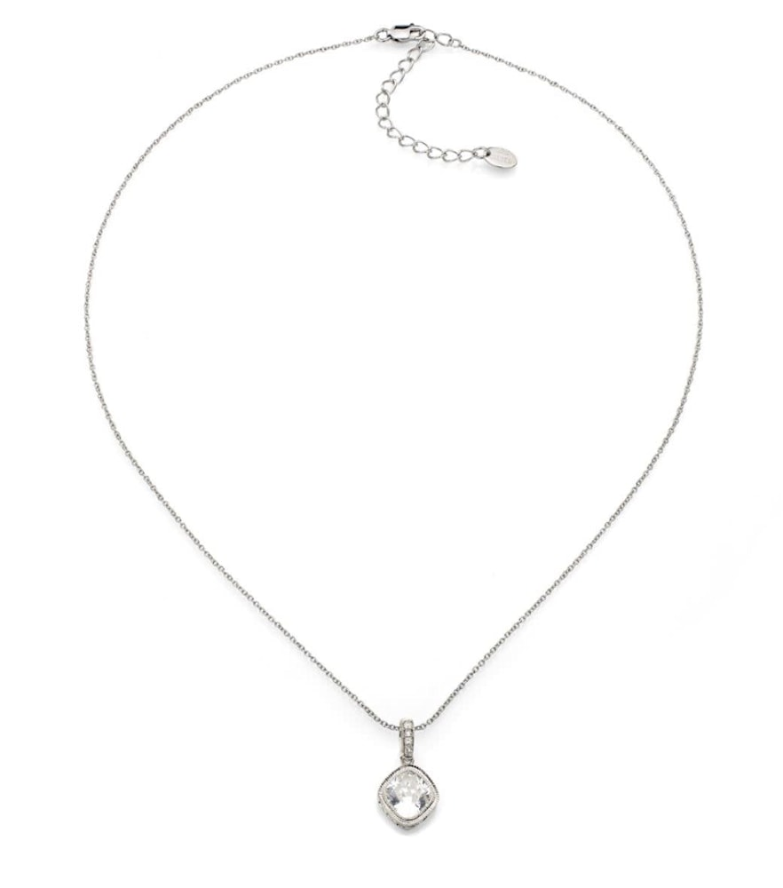 Sterling Silver 2 Carat NoHo Necklace c